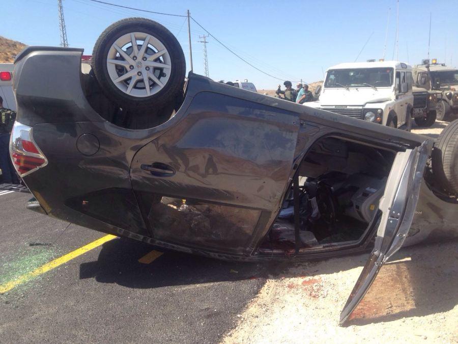 Vehículo del Rabino Mili Mark asesinado por terroristas de Hamas