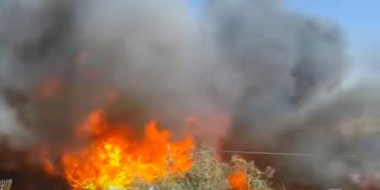 fuego arde en Haifa, 24 de noviembre de 2016. captura de pantalla.png