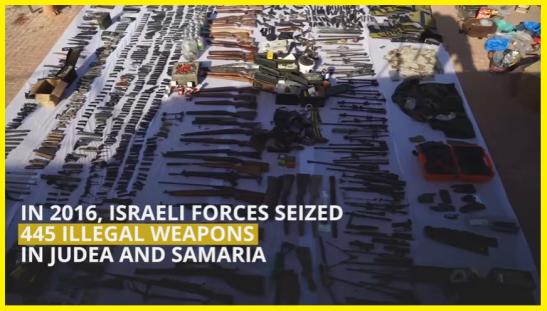 armas-ilegales-incautadas-en-judea-samaria