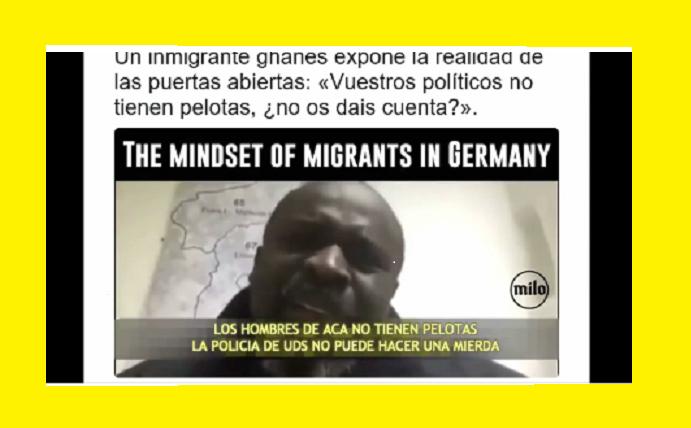 Inmigran ghanes se mofa de los europeos