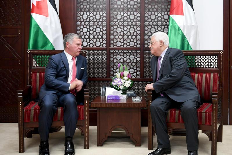 Abas con Abdullah II