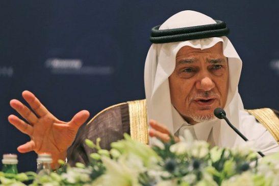 Principe Saudí Turki Bin Faisal ex director de inteligencia