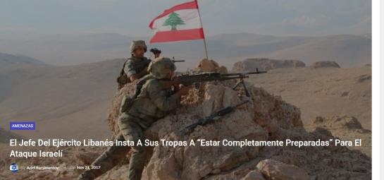 Amenazas del Libano