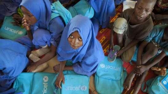 Niños en Dikwa Nigeria