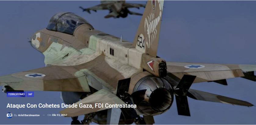 Ataque con cohetes desde Gaza