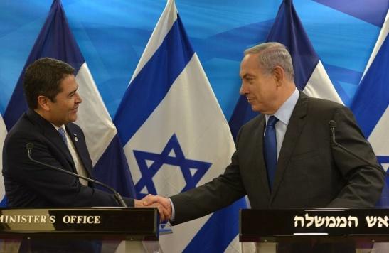 Juan-Orlando-Hernandez-y-Biniamin-Netanyahu-Foto-Kobi-Gideon-GPO